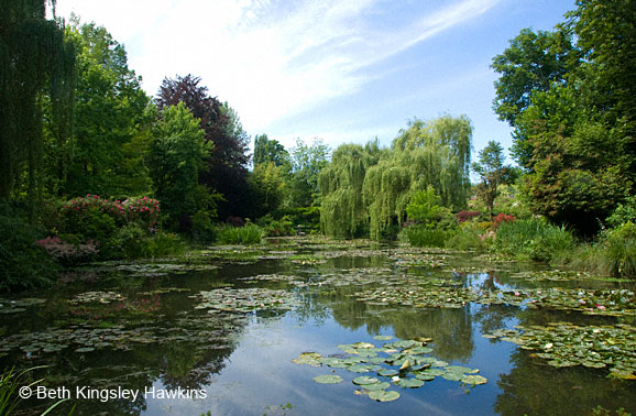 Monet's Garden - overview - Monet's Water Lily Pond, Giverny France
